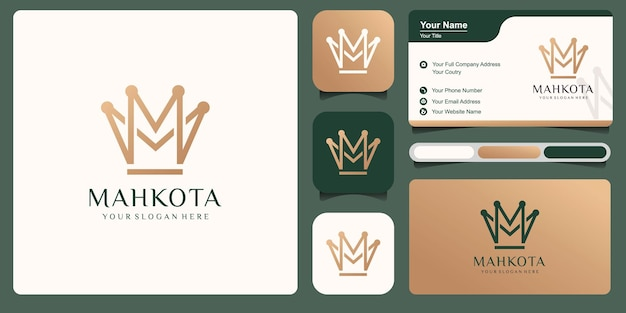 Корона логотип вектор шаблон иллюстрации дизайн