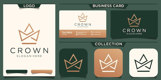 王冠のロゴのベクトルテンプレート