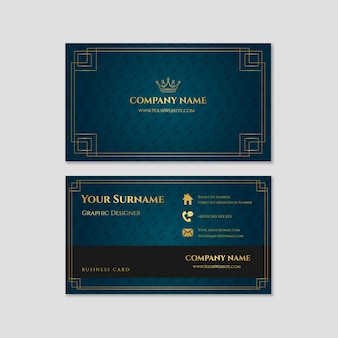 Crown luxury business card template
