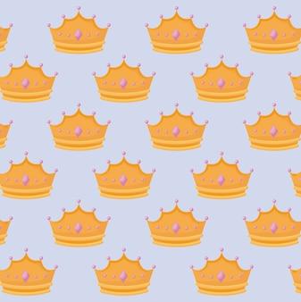 宝石パターンと女王の王冠