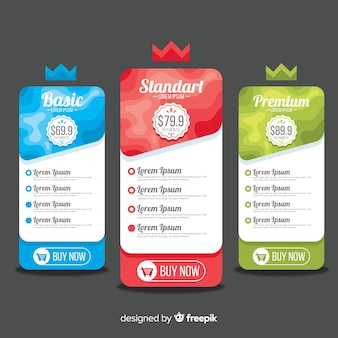 Crown price list pack