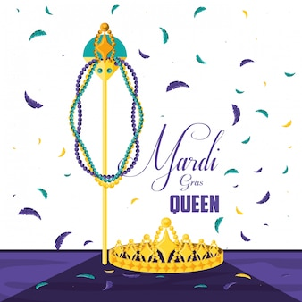 Crown queen of mardi gras celebration