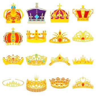 Crown royal icons set