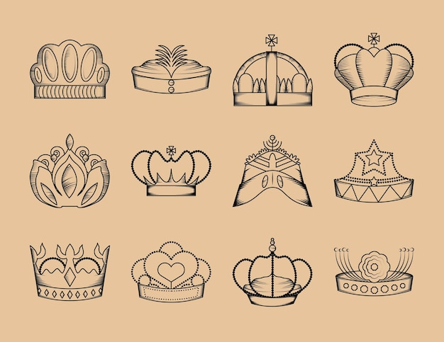 Набор короны роялти