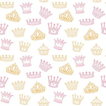Crown seamless pattern