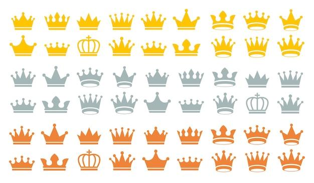 Crown set icon . vector illustration.