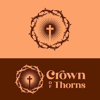 Crown of thorns logo template