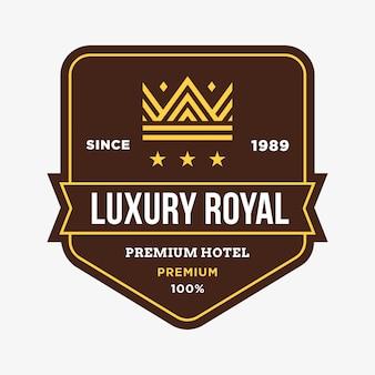 Crown vector logo badge emblem