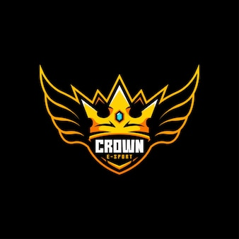 Crown wing fly badge king