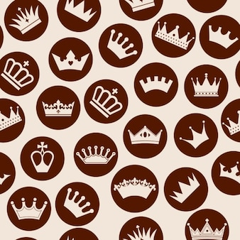 Crowns inside circles pattern