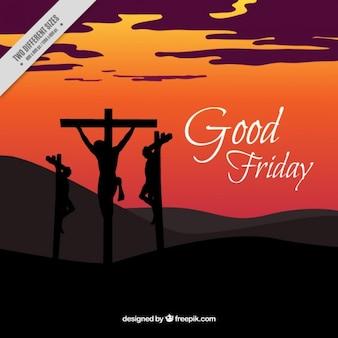 십자가 좋은 금요일 배경