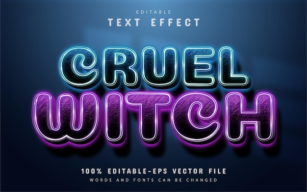 Cruel witch editable text effect