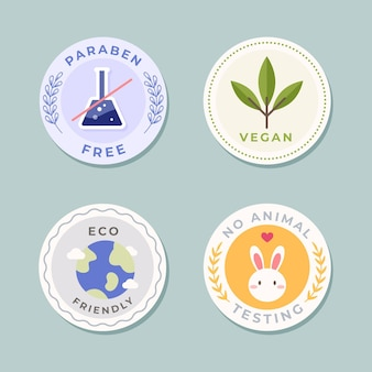 Cruelty free badge collection