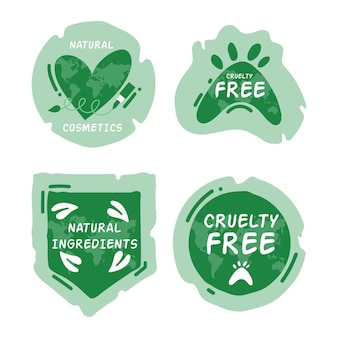 Cruelty-free badge collection