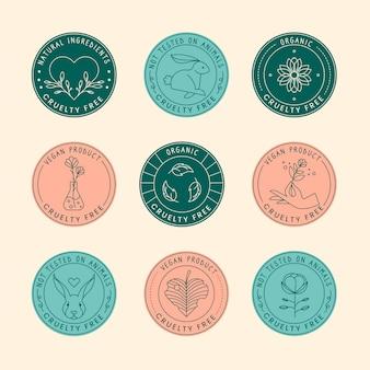 Collezione di badge senza crudeltà