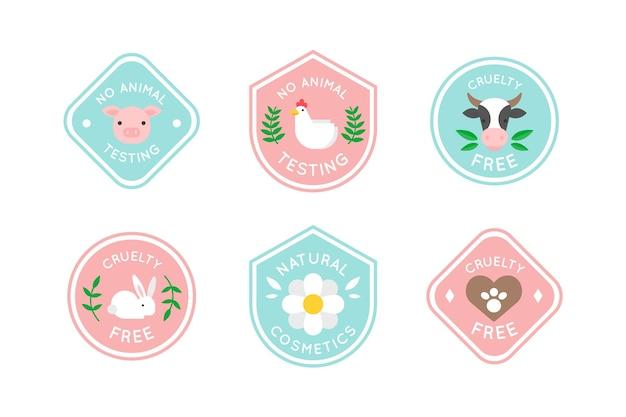 Cruelty free badge set