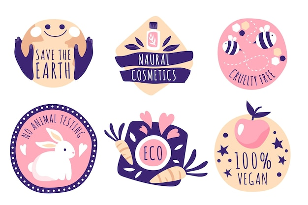 Cruelty free badges collection