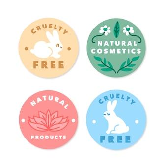 Collezione di badge cruelty free