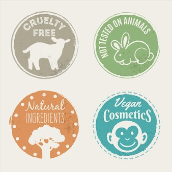 Pacchetto badge cruelty free