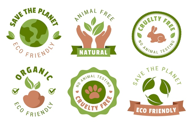 Set di badge cruelty free