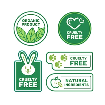 Cruelty free badges set