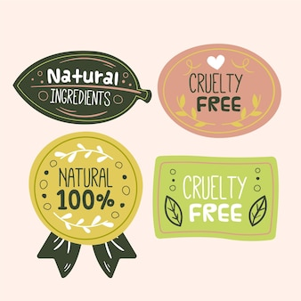 Cruelty free badges set