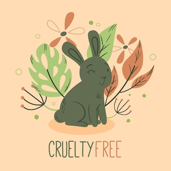 Cruelty free message and cute bunny