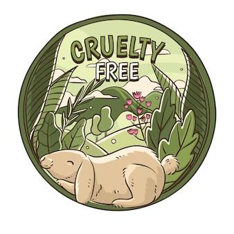 Cruelty free e concetto vegano Vettore gratuito