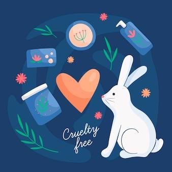 Prodotti cruelty free e vegani con coniglietto