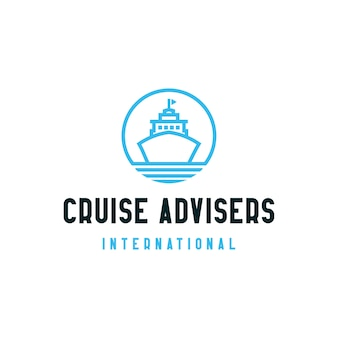 Cruise advisers logo design icon symbol
