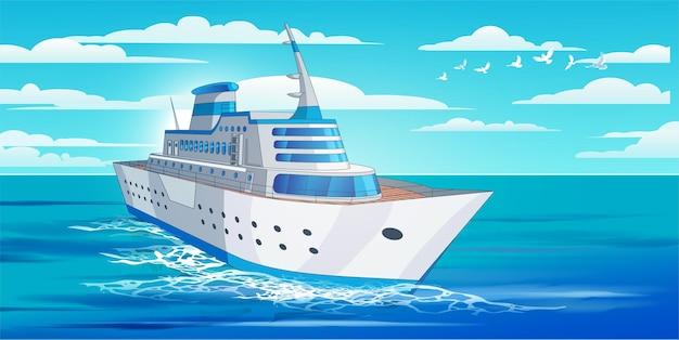 Круизный большой корабль
