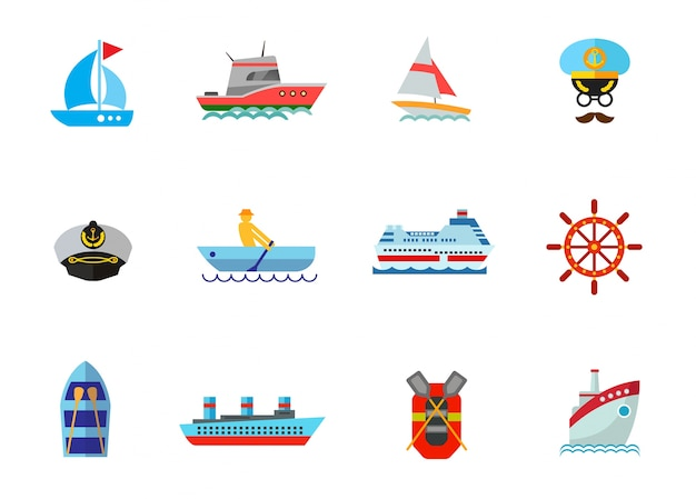 Cruise icon set