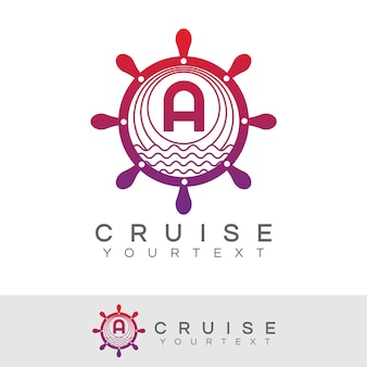 Cruise initial letter a logo design