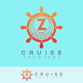 Cruise initial letter z logo design