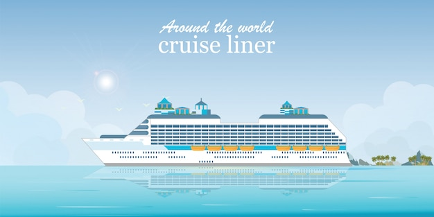 Cruise liner passenger ship.