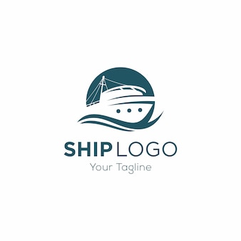Cruise ship logo template