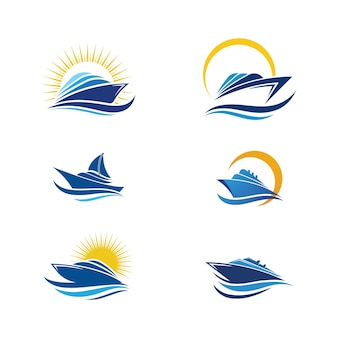 Cruise ship speed template vector icon illustration design
