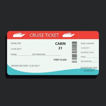 Круизный билет для путешествий на корабле.