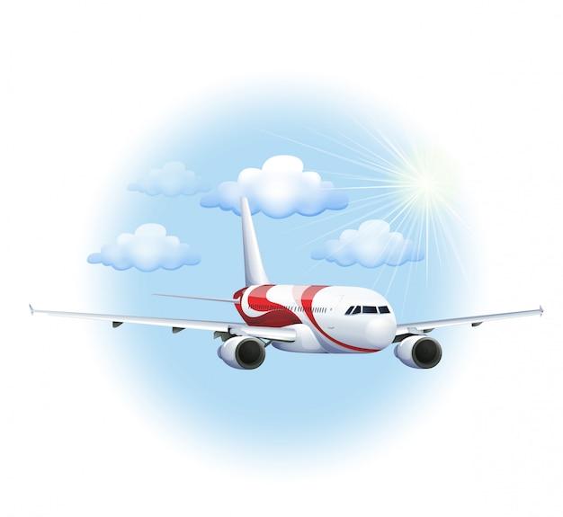 A cruising plane
