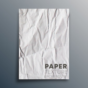 Crumpled blank paper sheet