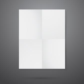 しわくちゃの紙のポスターのモックアップ