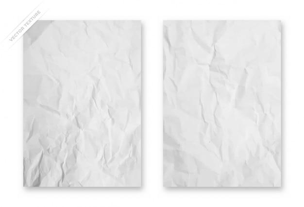 しわくちゃの紙のテクスチャの背景