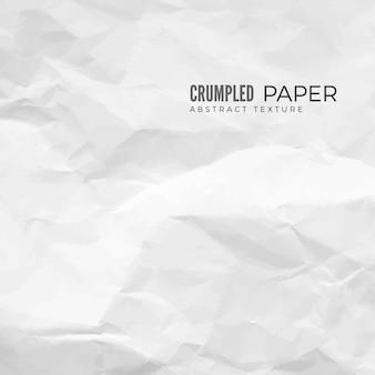 Текстура мятой бумаги. белая пустая скомканная бумага.