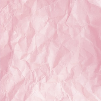 Crumpled pink paper