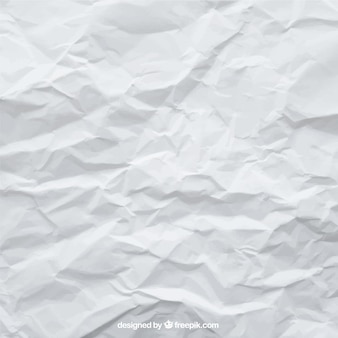 Crumpled белый фон листа