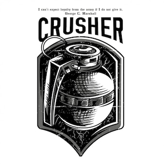 Crusher black and white