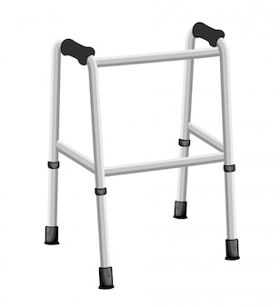 Crutches icon logo.  illustration of crutches  icon  on white background web site page and mobile app .