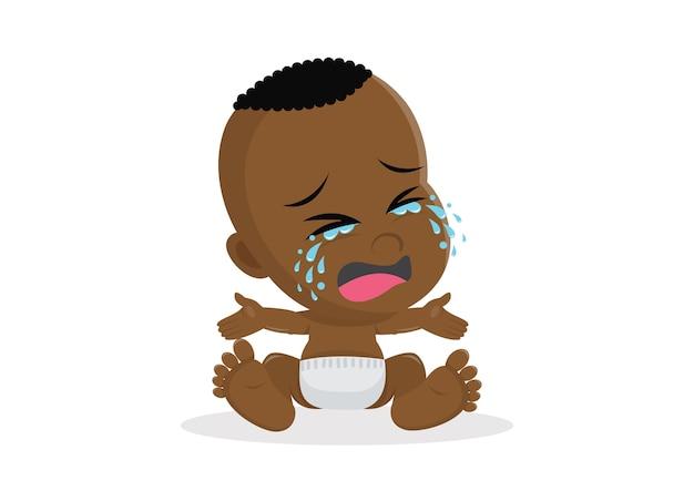 Плачущий африканский мальчик.