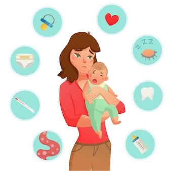 泣く赤ちゃんの理由構成