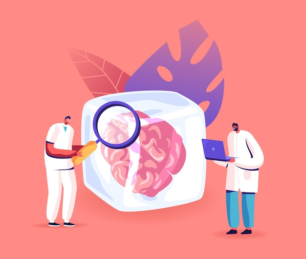 Cryonics technology, hibernation illustration